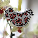 Personalised Love Bird Decoration