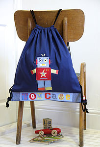 Personalised Robot Bag - children's accessories