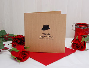 Dapper Chap Personalised Valentines Card - seasonal cards