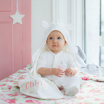 Personalised Hooded Bunny Blanket