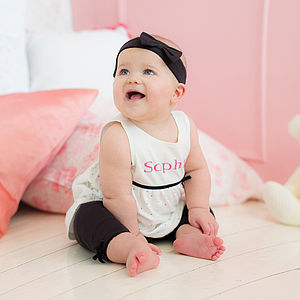 Personalised Dress With Leggings And Hairband