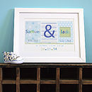 Twins Personalised New Baby Print