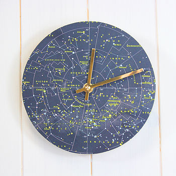 Stars And Constellations Map Clock