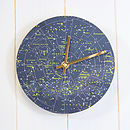 Thumb constellation clock