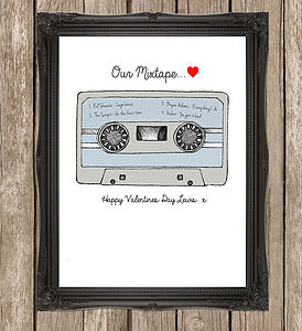 'Our Mixtape' Personalised Anniversary Print - posters & prints