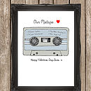 'Our Mixtape' Personalised Anniversary Print