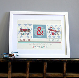 Boys Personalised Twin Print