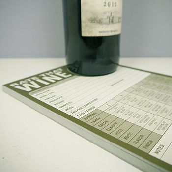 Rate That Wine Note Pad