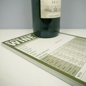 Rate That Wine Note Pad - wines, beers & spirits