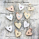 Birthstone Colour Heart Charms