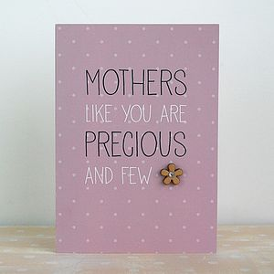 Mothers Are Precious, Card