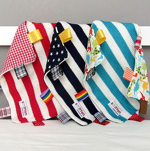 Striped Baby Comfort Blanket