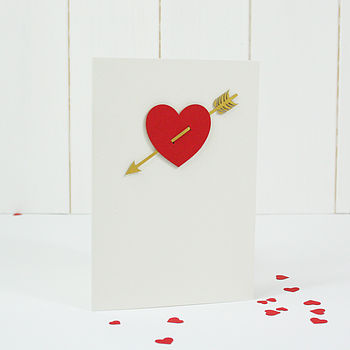 Valentine's Heart And Arrow Card