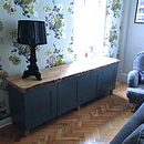Painted Cabinet With Solid Oak Or Ash Wood