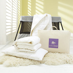 Baby Wool Bedding, Deluxe Travel Pack - soft furnishings & accessories