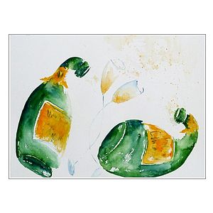 Champers Original Painting - home accessories