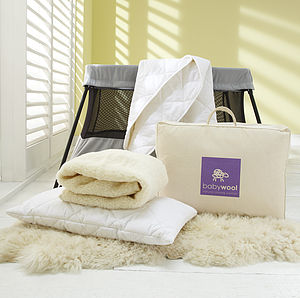 Baby Wool Bedding, Luxury Travel Pack - soft furnishings & accessories