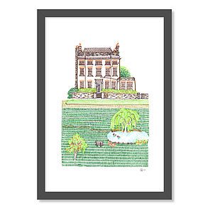 Personalised Illustration Of Your Home Or Special Place - posters & prints