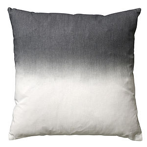 Dip Dye Grey Cushion - home
