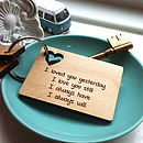 Personalised Love Message Tablet Key Ring