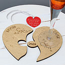 Personalised Heart Jigsaw Coaster