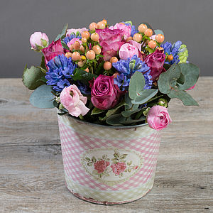 Mum's Little Rose Garden Flower Bucket