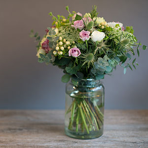 Vintage Style Country Garden Fresh Flowers Bouquet