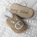 Personalised Sheepskin Teddy Baby Booties