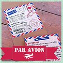 Pocketfold Retro Airmail Wedding Invitation