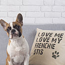 Personalised Love My Dog Cushion
