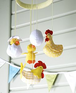 Chicken Farm Mobile - children's room accessories