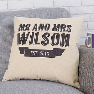 Personalised Wedding Gift Cushion - patterned cushions