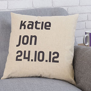 Personalised Couple Cushion - bedroom