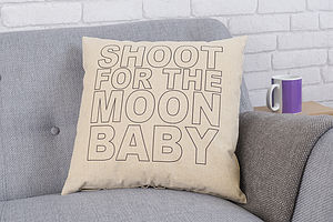 'Shoot For The Moon' Linen Cushion - cushions