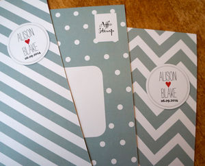 Spots And Stripes Wedding Stationery Range - invitations