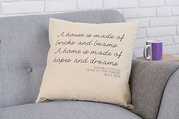 Personalised Hopes And Dreams Cushion
