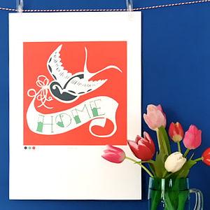 Swallow Tattoo Home Print