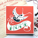Swallow Tattoo 'Home' Card