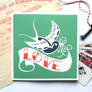 Swallow Tattoo 'Love' Card