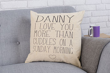 Personalised 'More Than' Cushion
