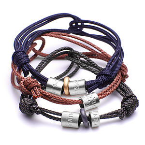 Personalised Men's Silver Bead Bracelet - shop the christmas catalogue