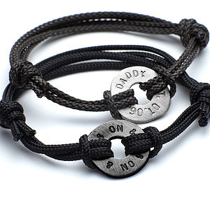Men's Personalised Hug Bracelet - bracelets