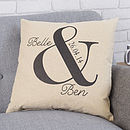 Personalised Ampersand Wedding Cushion