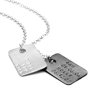 Men's Personalised Silver Tag Necklace