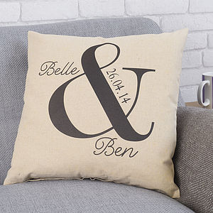 Personalised Ampersand Wedding Cushion - patterned cushions