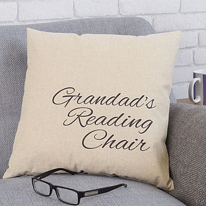 Personalised Grandad's Chair Cushion - cushions