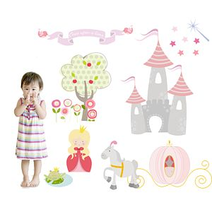 Princess Fabric Wall Stickers - wall stickers