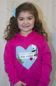 Girl's 'Big Sister' Hooded Top