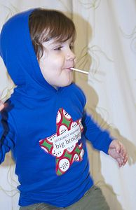 Boy's 'Big Brother' Hooded Top