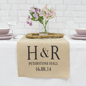 Personalised Wedding Table Runner - table decorations
